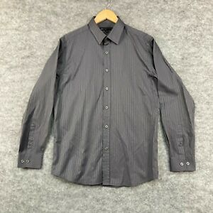 Jonathan Adams Mens Button Up Shirt Size M Medium Grey Long Sleeve Stripe 199.31