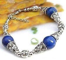 Beautiful handmade Tibet style Tibet silver Lapis lazuli bracelet 7.5-8 inch