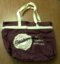 WILTON METHOD logo Cake Decorating tote bag Instructor baking carry-on