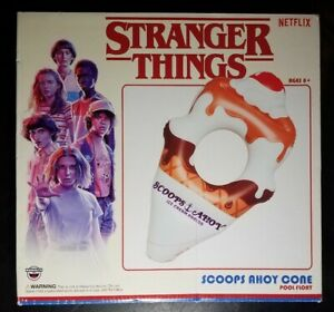 Stranger Things: Scoops Ahoy Ice Cream Cone Pool Float Netflix BigMouth