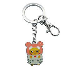 Poncho Pikachu Mega Slowbro Suit Pokemon Metal Keychain Key Chain Ring Holder