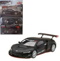 TSM 1:64 MINI GT Honda NSX GT3 Presentation Diecast Model Matte Black MGT00025