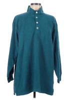 Soft Surroundings 1/4 Button Pullover Sweater Women's Medium Blue *I24