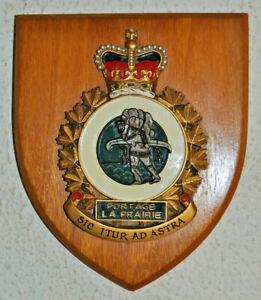 Canadian Forces Base Portage la Prairie plaque shield crest CFB RCAF