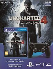Sony DUALSHOCK 4 controller wireless ps4 + Uncharted 4 'a Thief' s End NUOVO & OVP