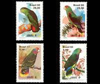 Birds Parrots Brazilian Mi 1789-92 Sn 1715-18 Yt 1444-47 RHM C-1167-70 Lubrapex