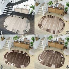 Beige Brown Oval Rugs 120cm / 140cm / 160cm Soft Pile Living Room Designer Rugs