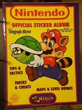 Nintendo Official Sticker Album book (1992) NES GAMEBOY ~ Vintage ~ Merlin RARE