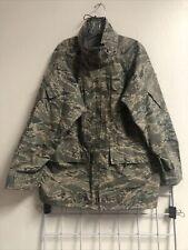 Genuine USAF Tiger Stripe ABU APECS All-Purpose GORE-TEX PARKA Jacket Large Reg