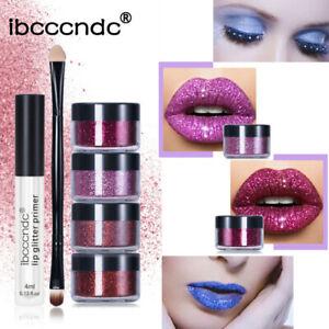 Glitter Lip Kit Stay Golden Cosmetics Shimmer Lip Gloss Makeup Set Long Lasting+
