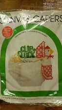 Clip Cluck Coupon Holder  Canvas Capers Chicken Pre cut kit nip
