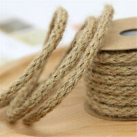 10M Jute Burlap Braided String Hessian Ribbon Rope Wedding Party Craft Decor