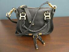 NWOT! Chloe Marcie Black Mini Satchel Crossbody Pebbled Leather Handbag