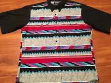 Vintage Wrangler Mens Southwest Aztec Western Pearl Snap Long Sleeve Shirt  l