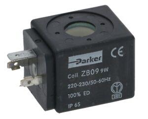 PARKER ZB09 9W 220 - 230V VOLT SOLENOID VALVE COIL ONLY COFFEE ESPRESSO MACHINE