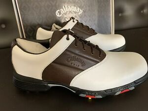 New Callaway Collection XTT Grand Slam M138 Golf Shoes - White/Brown - 8M