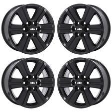 18 Chevrolet Traverse Black Wheels Rims Factory Oem 2017 2016 Set 4 5572