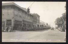 RP Postcard LAKELAND FL 1930s Liggett's Drug & Darling Shop Business Storefronts