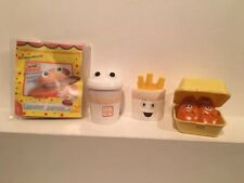 """VTG Fisher Price McDonalds """"Fun With FOOD"""" Lot 1988 Burger, Nuggets, Fries,drink"""