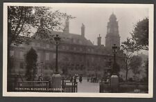 Postcard Leicester the Municipal Buildings posted 1910 RP WHS Kingsway