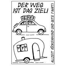 Efco DER WEG IST DAS ZIEL Stempel SET clear stamp 4511031 Reise