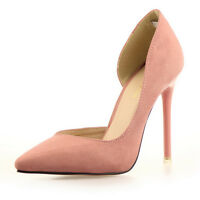 Hot Women Suede Sexy Point Toe Pumps Stiletto High Heels  Lady Work Court Shoes