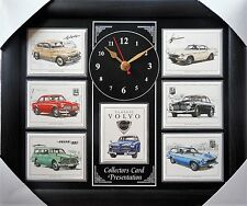 Classic Volvo Stunning Collector Cards Wall Clock