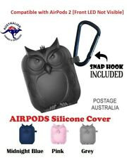 Apple Airpods 1 & 2 Silicone Protective Cover -Owl Shaped Case Slim Skin-Durable
