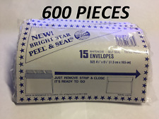 600 PCS self seal Tinted inside Envelopes Peel And Stick Seal 4.5 x 6.5 Inch