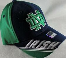LZ Adidas Adult Fitted S/M Notre Dame Fighting Irish Baseball Hat Cap NEW D44