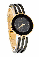 Gold Plated Strap Adult PVD Coated Case Wristwatches