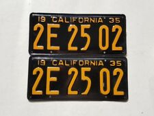 1935 California License Plates DMV Clear Restored Vintage YOM