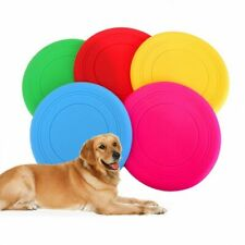 Silica Gel Soft Dog Flying Disc Frisbee Dog Toys Game Saucer Big Small Pet