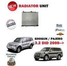 FOR MITSUBISHI SHOGUN + PAJERO 3.2 DID V68 V78 V88 V98 2000-> NEW RADIATOR UNIT