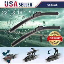 "22"" + 19"" Windshield Wiper Blade J-Hook Premium Bracketless All Season 2pcs/set"