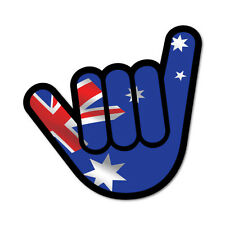 Aussie Shaka Shocker Sticker Aussie Car Flag 4x4 Funny Ute