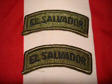 Army El Salvador Tab  New Set of 2 Embroidered Sew On OD Green