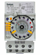 Theben Zeitschaltuhr SUL188hw analog Schaltuhr Uhr quarzgesteuert 1880108