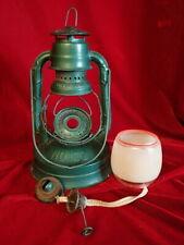 Vintage DIETZ No 100 Kerosene Lantern CITY OF LOS ANGELES Green w/ Frosted Globe