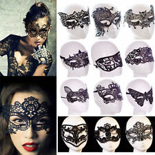Black Lace Eye Face Mask Masquerade Party Prom Stage Costume