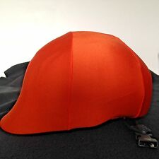 Equestrian Horse Riding Helmet Orange Lycra Cover Up