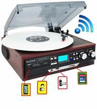 Boytone BT-17DJM-C Record Player Turntable AM FM Radio Cassette Wood REFURBISHED