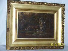 Antique c19thC Barbizon School Narcisse Virgilio Diaz De La Pena Oil On Canvas