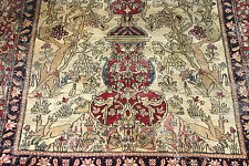 Antique Persian Isfahan hand knotted wool 210 x 135
