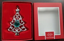 "Lenox Gemmed Tree 4.5"" Christmas Ornament Emerald Green Stone (8oz)"