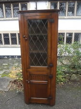 A Beautiful High Quality Titchmarsh & Goodwin Style Carved Oak Corner Cabinet