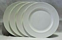 """Mikasa Ciara White Bone China 11"""" Dinner Plates Set of Four New"""