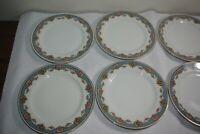 """6 Charles Ahrenfeldt Limoges France China Salad Plates 7.5"""" Vintage Antique"""