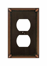 Amerelle Imperial Bronze 1 gang Die-Cast Metal Duplex Outlet Wall Plate