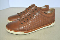 Allen Edmonds Porter Derby Sneaker Woven Cognac Leather Casual Oxford Men 11 D
